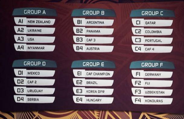 Calendario del Mundial Sub – 20 de la FIFA Nueva Zelanda2015