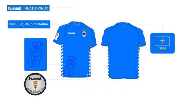 El Real Oviedo presenta un nuevo modelo de camiseta