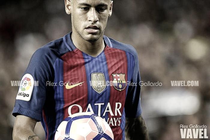 Incidente entre Neymar y Semedo en el entrenamiento previo al Clásico