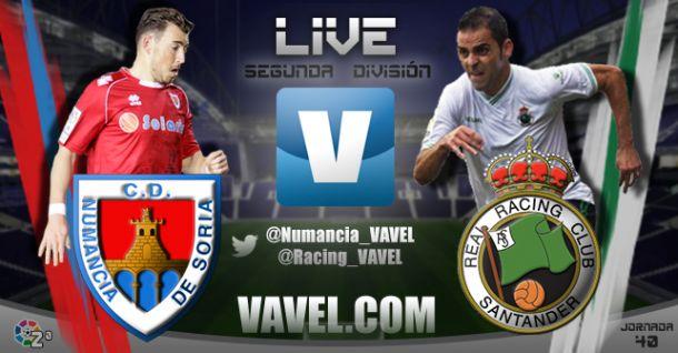 Resultado del partido Numancia - Racing de Santander de la Liga Adelante 2015 (0-2)