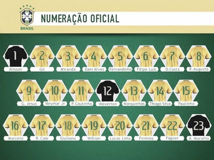 CBF divulga numeração para clássico contra Argentina; Daniel Alves homenageará Carlos Alberto Torres