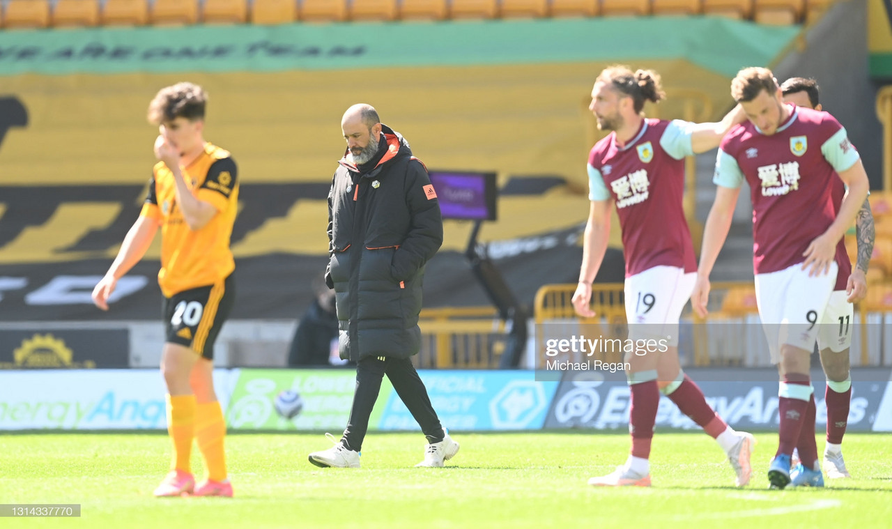 'We'll stick together' says Wolves boss after 4-0 home defeat to Burnley