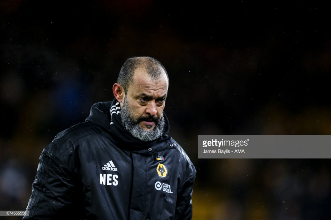 Nuno proud of Wolves efforts but admits his team must become more clinical