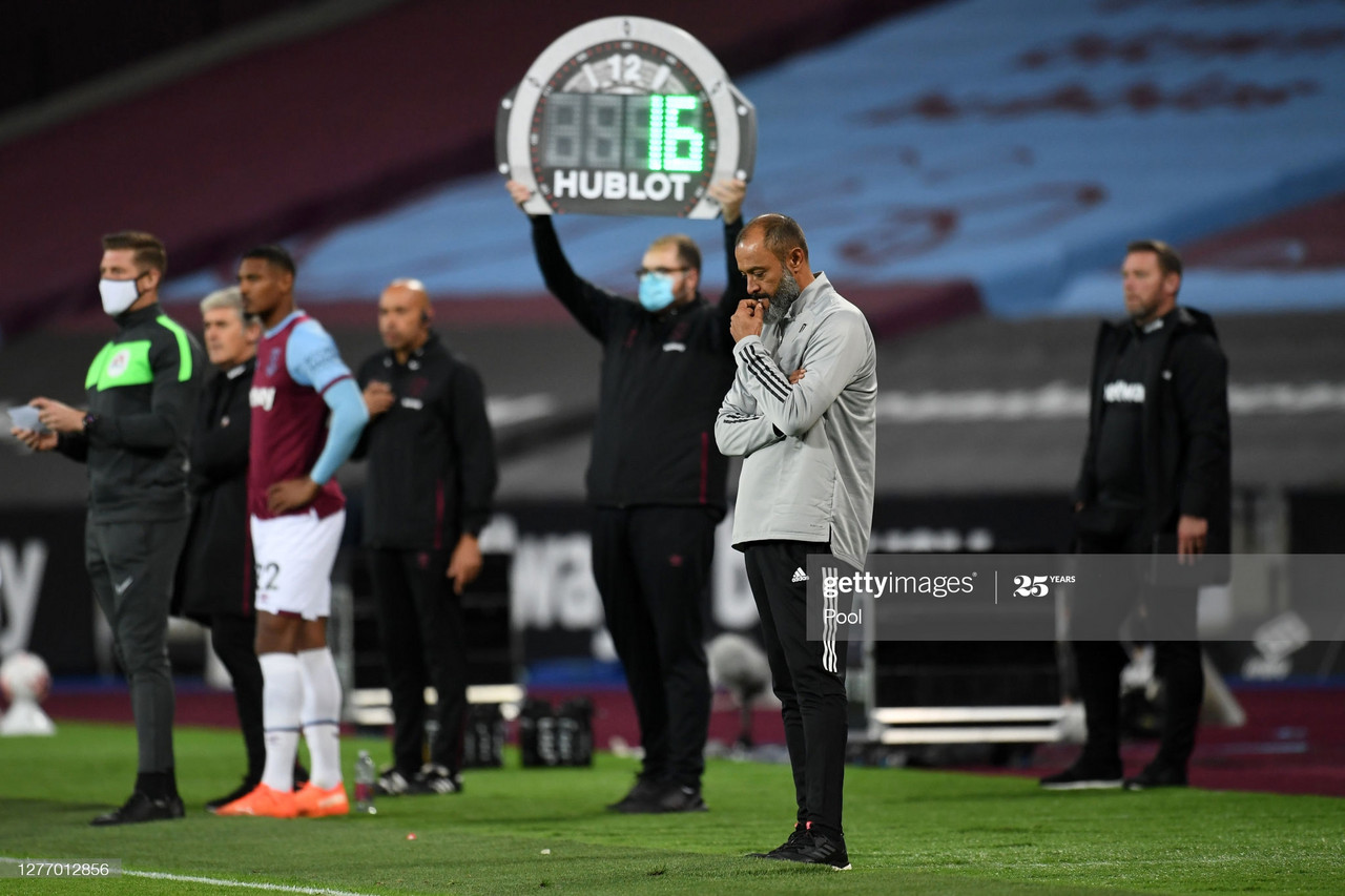 Nuno Espirito Santo's five key quotes following humiliating defeat at West Ham