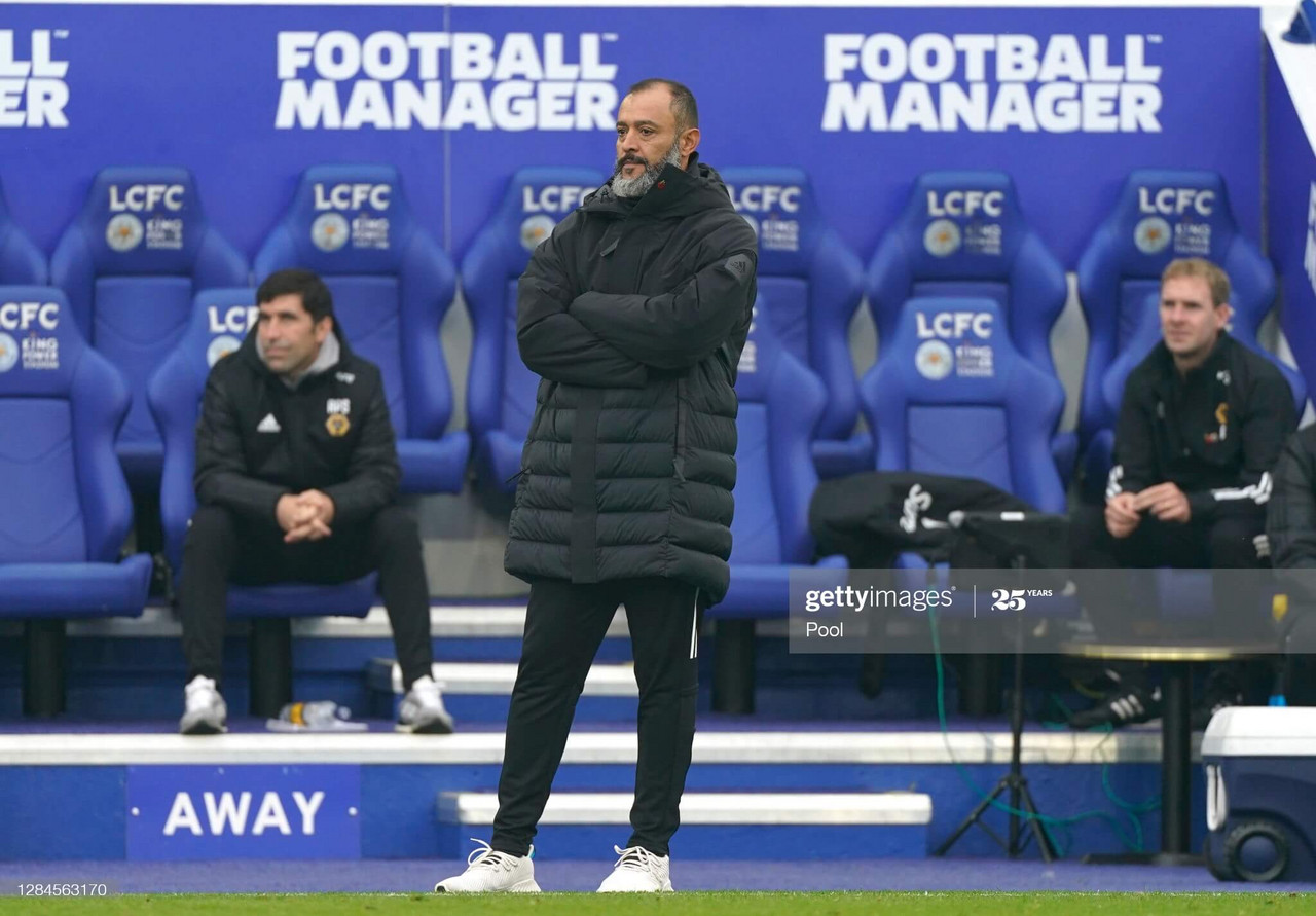 Nuno has now lost three of his four visits to the King Power Stadium, including one Champions League visit as Porto boss. (Photo by Michael Regan/Getty Images)