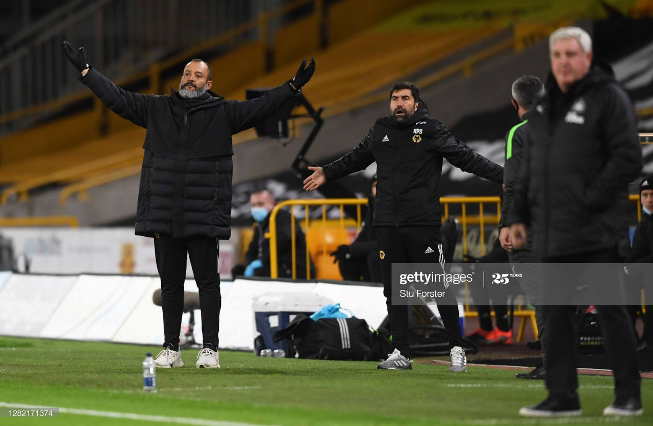 Nuno has lost just one of his four meetings with Crystal Palace as Wolves manager.(Photo by Stu Forster/Getty Images)