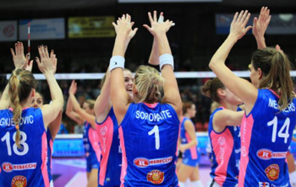 Lega Volley F Serie A1: Nordmeccanica Piacenza batte Metalleghe Sanitars Montichiari 3-1