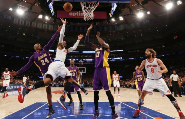 New York Knicks Defeat Los Angeles Lakers For First Home Victory