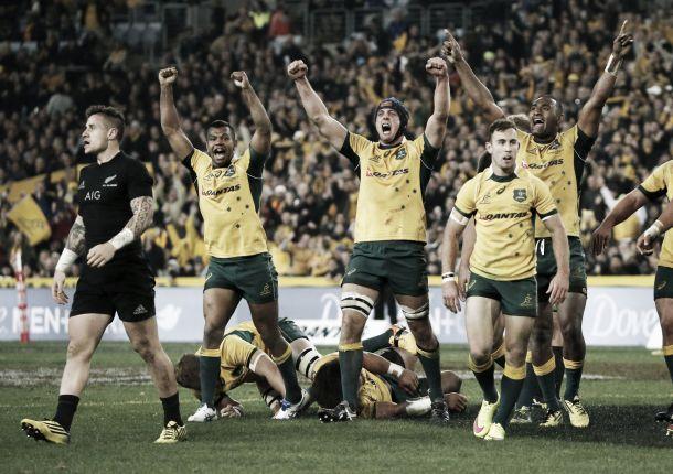Copa Mundial de Rugby 2015: en Twickenham, Nueva Zelanda y Australia se disputan el trofeo William Webb Ellis