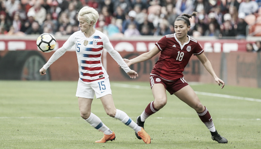 Result: USWNT 6 - 0 Mexico in 2018 Qualifiers