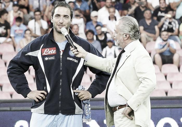 """De Laurentiis: """"Si Higuaín acaba en la Juventus sería una traición a sí mismo"""""""