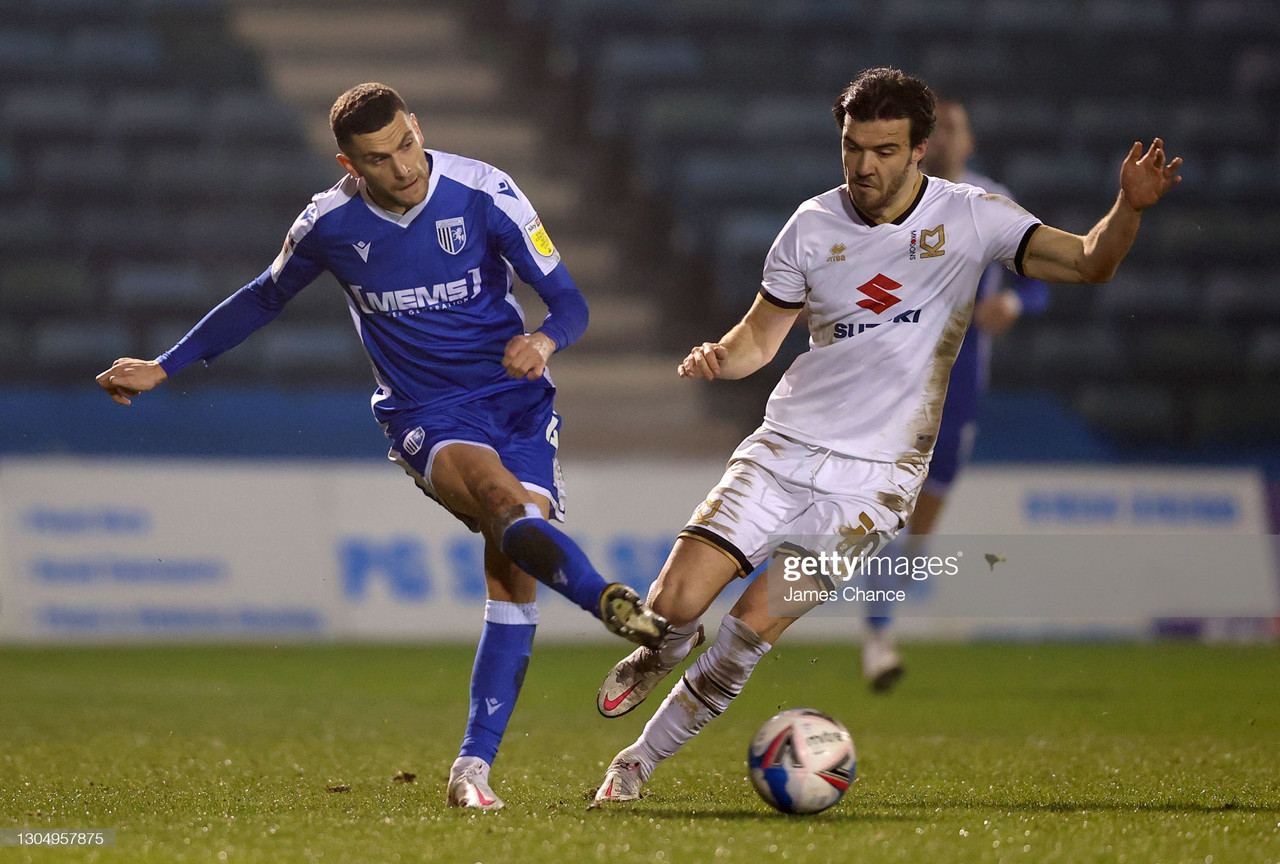 Gillingham 1-4 MK Dons: Dons win again as O'Keefe sees red