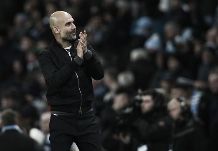 Guardiola comemora triunfo de virada na Premier League e liga alerta para dérbi de Manchester