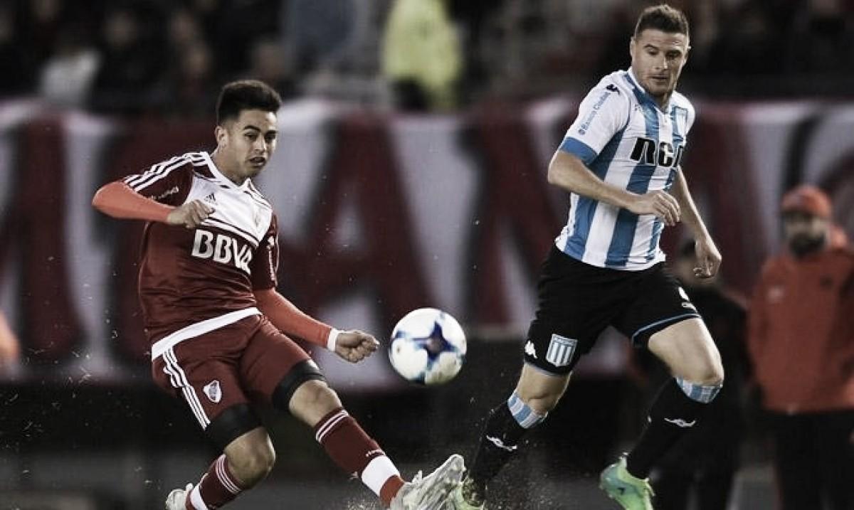 River y Racing jugarán un partido clave para la clasificación a las copas internacionales