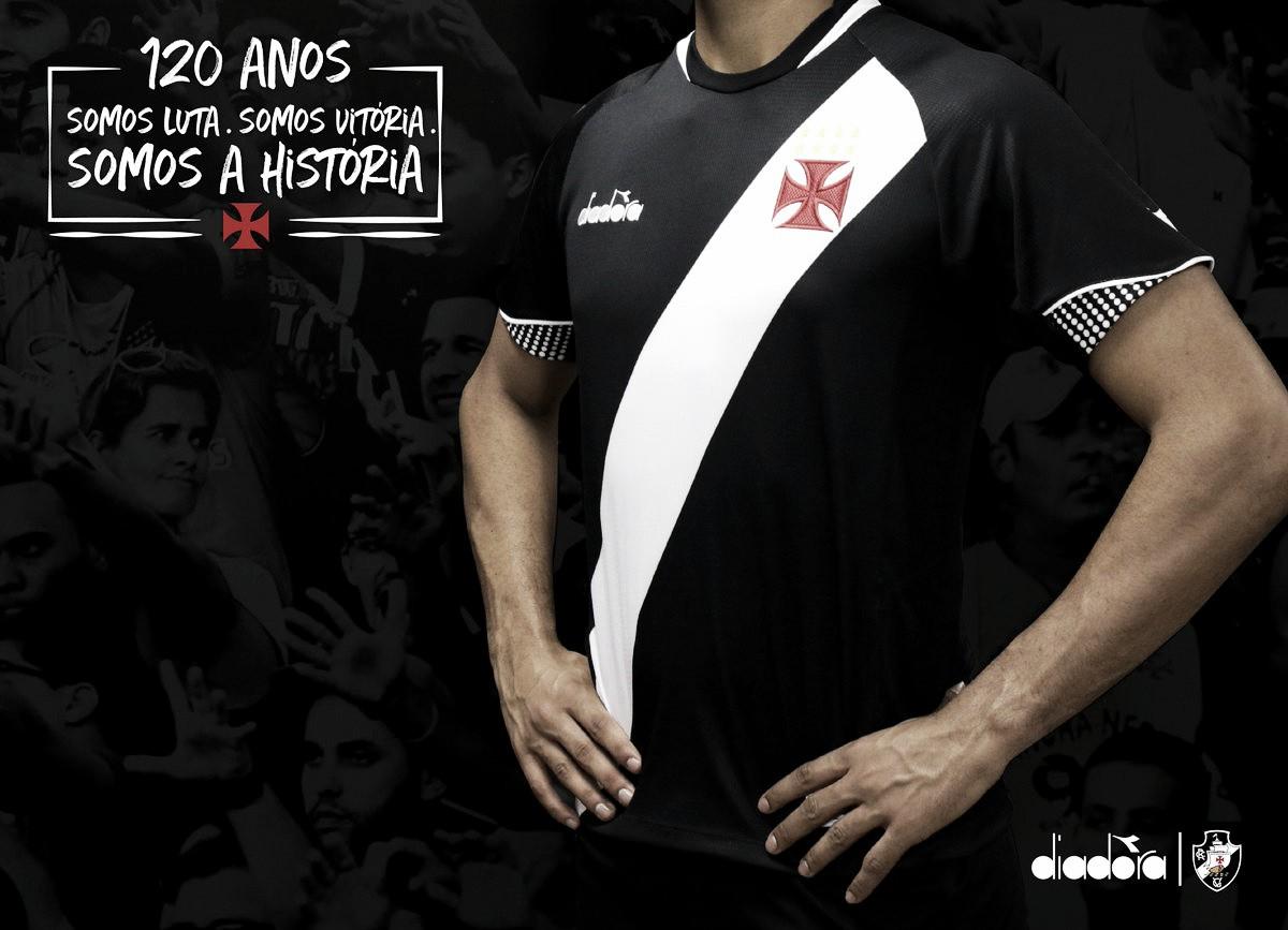 Diadora aposta na simplicidade e tradição em novo uniforme do Vasco