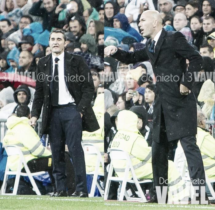 Zidane, invicto ante Valverde