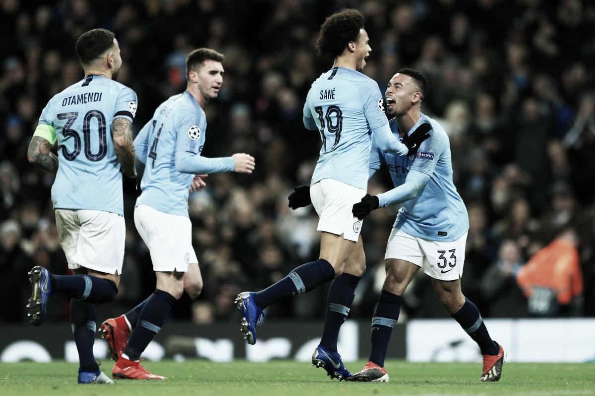 Com dois de Sané, Manchester City bate Hoffenheim e garante primeira colocação do Grupo F