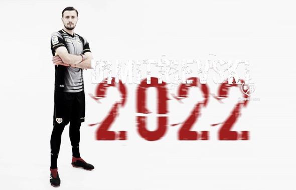 Dimitrievski, jugador del Rayo Vallecano hasta el 2022