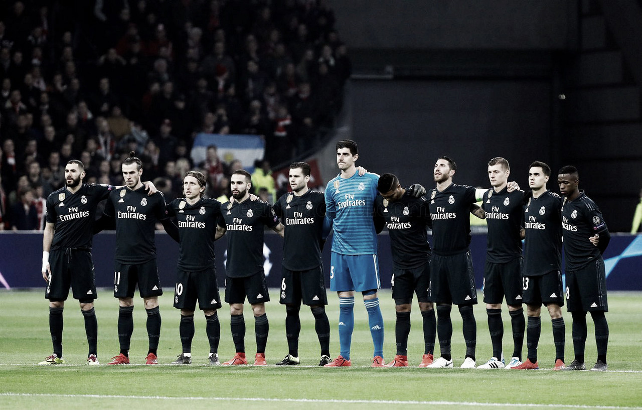 Ajax – Real Madrid: puntuaciones del Real Madrid, Champions League 2018/19, partido de ida de octavos de final