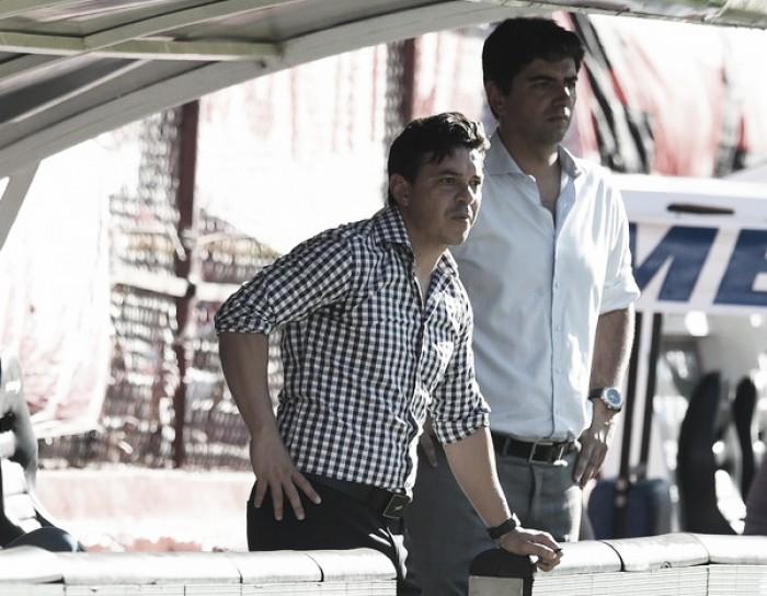 """Gallardo: """"Después del empate nos costó bastante ir a buscarlos"""""""