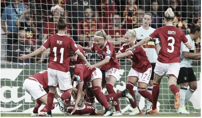 Com gol no começo da partida, Dinamarca vence Bélgica pela Eurocopa Feminina 2017