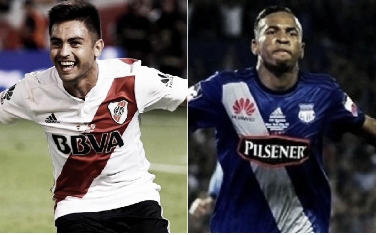 El Pity Martínez y Preciado, los jugadores más desequilibrantes de River y Emelec