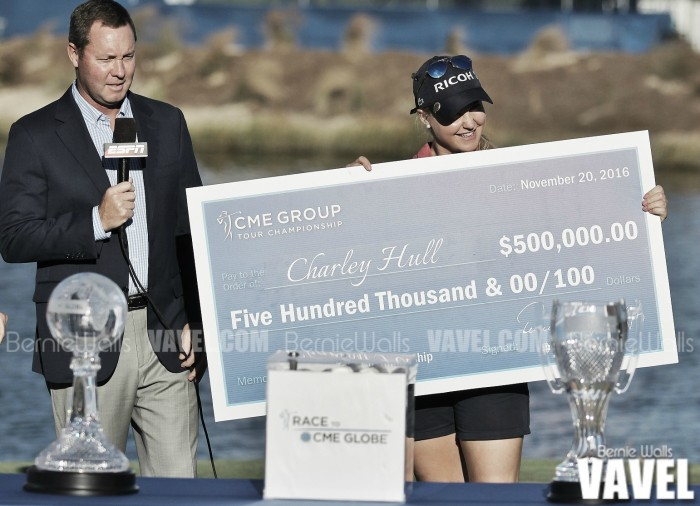 Charley Hull wins CME Group Tour Championship