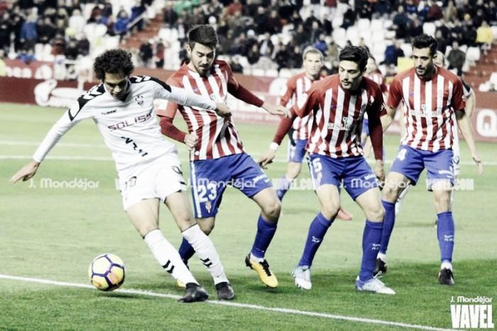 Fotos e imágenes del Albacete Balompié 2-2 Real Sporting, jornada 16