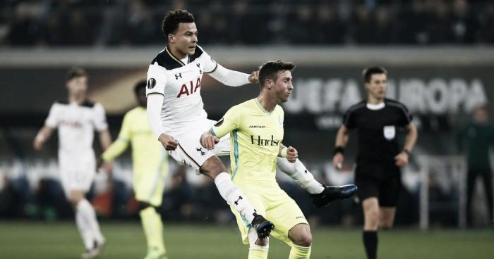 Resumen Tottenham 2 - 2 Gent en la UEFA Europa League 2017