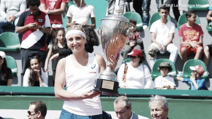 WTA Rabat: Timea Bacsinszky defeats Marina Erakovic to win title