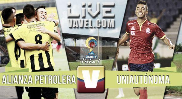 Resultado Alianza Petrolera - Uniautónoma en Liga Águila 2015-II (2-0)