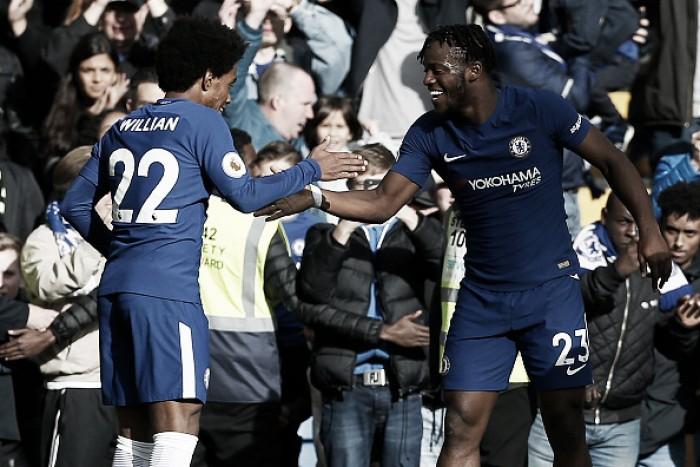 Watford dá trabalho, mas Chelsea vira e entra no G-4 da Premier League