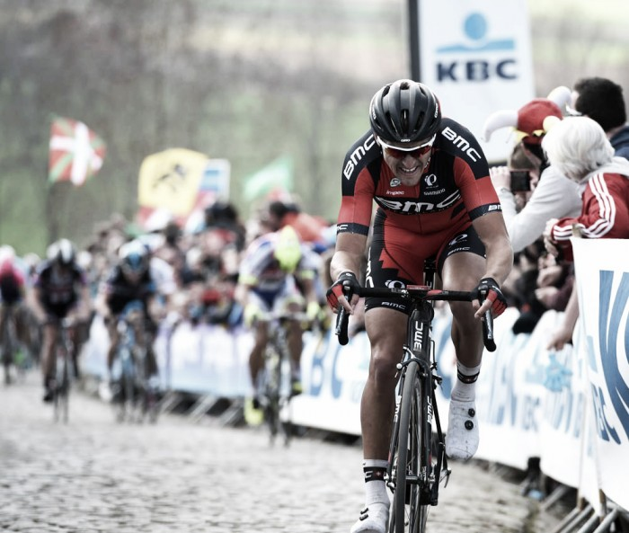 Greg Van Avermaet's late surge not enough as Debusschere claims victory at Dwars door Vlaanderen