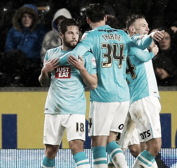 Hull City 0-2 Derby County: Tigers dethroned as County top table