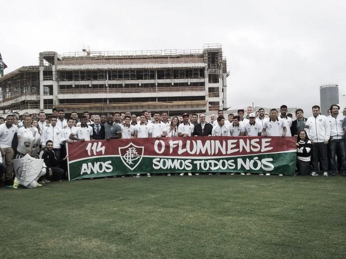 Primeiro treino do Fluminense no novo Centro de Treinamento
