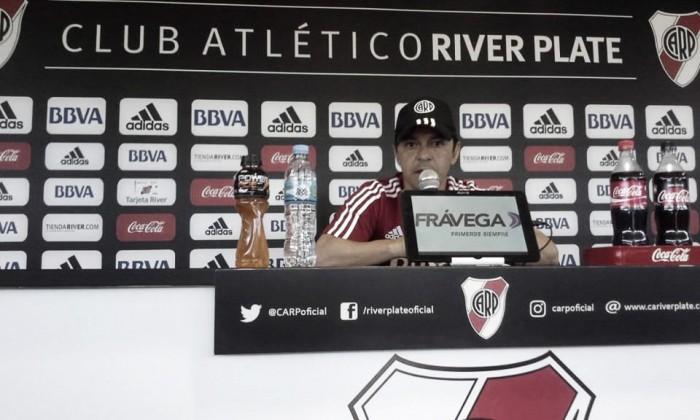 """Gallardo: """"Siempre fuimos a buscar futbolistas que son capaces de jugar en River"""""""