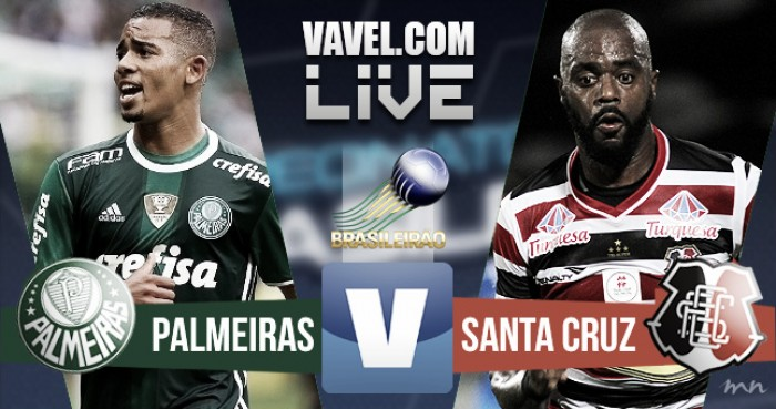 Resultado Palmeiras x Santa Cruz no Campeonato Brasileiro 2016 (3-1)