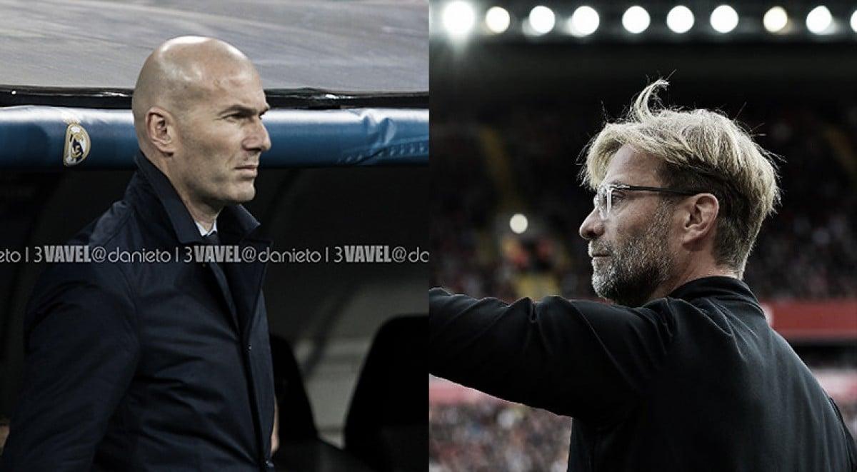 Zidane vs Klopp: duelo de categoría desde el banquillo