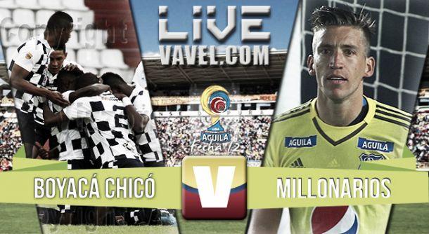 Resultado Boyacá Chico - Millonarios en Liga Águila 2015 (0-3)