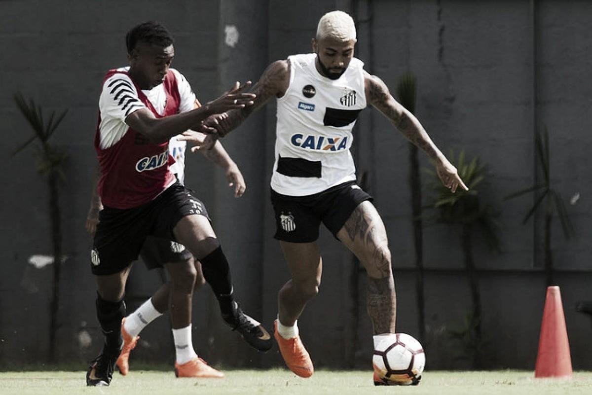 Gabigol faz dois, e reservas do Santos goleiam sub-20 em jogo-treino
