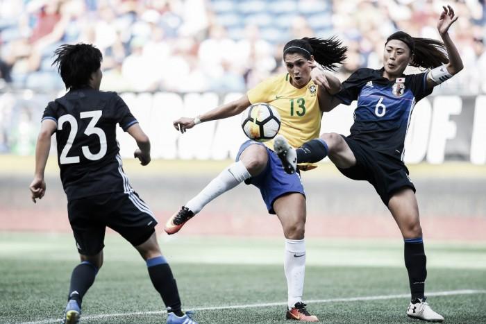 Brasil e Japão empatam em estreia pelo Torneio das Nações de Futebol Feminino