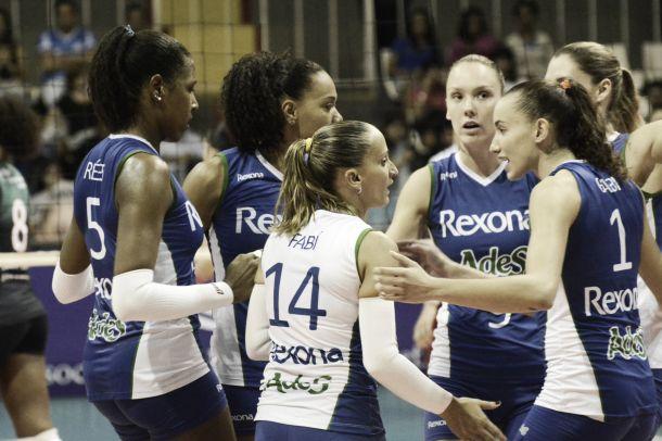 Rexona/Ades leva susto, mas vence São Cristóvão Saúde/São Caetano e avança à semifinal da Superliga