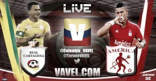 Resultado Real Cartagena - América de Cali en Torneo Águila 2015 (0-0)