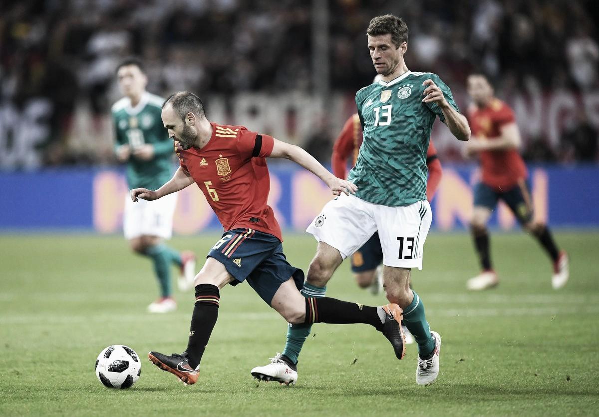 Jogadores alemães exaltam qualidade do futebol apresentado no empate contra Espanha