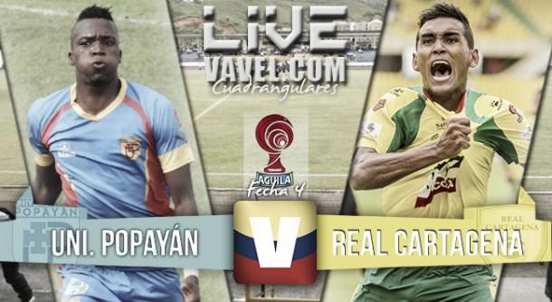 Resultado final Universitario Popayán vs. Real Cartagena Torneo Águila (1-1)