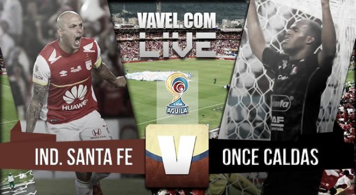 Resultado Santa Fe - Once Caldas en la Liga Águila 2016-I (2-0)