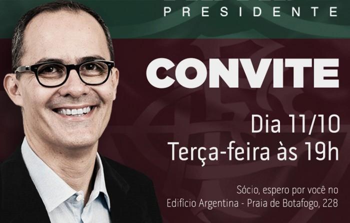 Evento de Pedro Abad, candidato à presidência do Fluminense