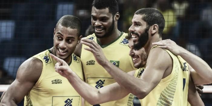 Na Arena Carioca 1, Brasil joga bem e vence Estados Unidos pela Liga Mundial de Vôlei