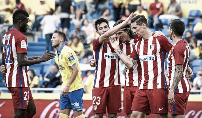 Às vésperas do dérbi na Champions, Atlético atropela Las Palmas com dois de Gameiro