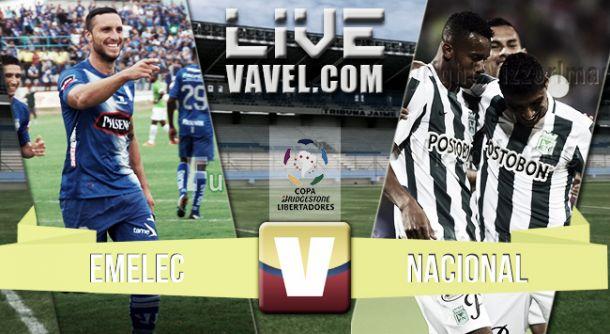 Resultado Emelec - Atlético Nacional en la Copa Libertadores 2015 (2-0)